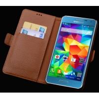 Кожаный чехол портмоне (нат. кожа) для Samsung Galaxy A3