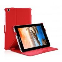 Чехол подставка текстурный с многоуровневым углом наклона для Lenovo IdeaTab A5500 Красный