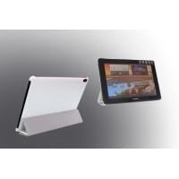 Чехол флип подставка сегментарный на поликарбонатной основе для Lenovo IdeaTab A7600 Белый