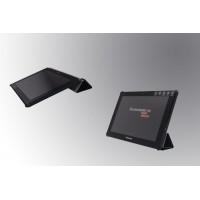 Чехол флип подставка сегментарный на поликарбонатной основе для Lenovo IdeaTab A7600 Черный