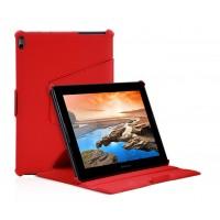 Чехол подставка текстурный с многоуровневым углом наклона для Lenovo IdeaTab A7600 Красный