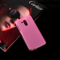 Силиконовый матовый полупрозрачный чехол для Acer Liquid Z500 Розовый
