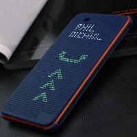 Точечный чехол смарт флип с функциями оповещения для HTC Desire 820 Синий
