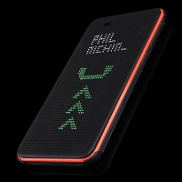 Точечный чехол смарт флип с функциями оповещения для HTC Desire 820 Черный