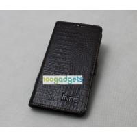 Кожаный чехол портмоне (нат. кожа крокодила) для HTC Desire 820