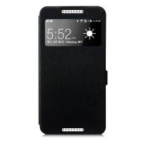 Чехол смарт флип на пластиковой основе с окном вызова серия Colors для HTC Desire 820 Черный