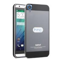 Двухкомпонентный чехол с металлическим бампером и поликарбонатной накладкой для HTC Desire 820 Черный