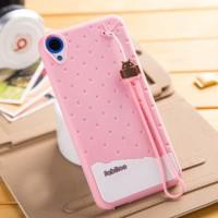 Силиконовый дизайнерский фигурный чехол для HTC Desire 820 Розовый