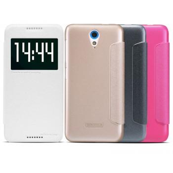 Чехол смарт флип на пластиковой основе с окном вызова серия Colors для HTC Desire 620