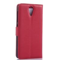 Чехол портмоне подставка с защелкой для HTC Desire 620 Красный