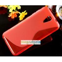Силиконовый S чехол для HTC Desire 620 Красный