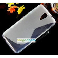 Силиконовый S чехол для HTC Desire 620 Серый
