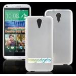 Силиконовый матовый непрозрачный чехол для HTC Desire 620
