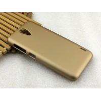Пластиковый матовый металлик чехол для HTC Desire 620 Бежевый