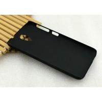 Пластиковый матовый металлик чехол для HTC Desire 620 Черный