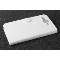 Чехол портмоне подставка с защелкой для Philips S388 Белый