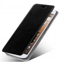 Чехол флип подставка водоотталкивающий для Huawei Ascend G7 Черный