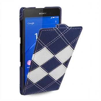 Кожаный чехол вертикальная книжка (нат. кожа) для Sony Xperia Z3