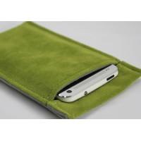 Фланелевый мешок с экстрамягким бархатным покрытием для Yotaphone 2 Зеленый