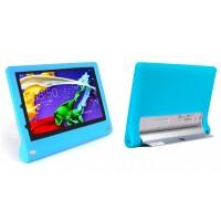 Силиконовый софт-тач премиум чехол для Lenovo Yoga Tablet 2 10 Голубой