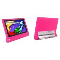 Силиконовый софт-тач премиум чехол для Lenovo Yoga Tablet 2 8 Розовый