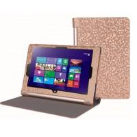 Чехол флип с рамочной защитой текстурный серия Golografy honeycomb для Lenovo Yoga Tablet 2 10 Бежевый