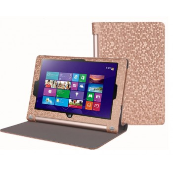 Чехол флип с рамочной защитой текстурный серия Golografy honeycomb для Lenovo Yoga Tablet 2 10