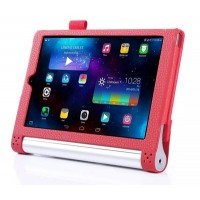 Чехол подставка с рамочной защитой экрана, отделениями для карт и поддержкой кисти для Lenovo Yoga Tablet 2 10 Красный