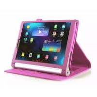 Чехол подставка с рамочной защитой экрана, отделениями для карт и поддержкой кисти для Lenovo Yoga Tablet 2 10 Пурпурный