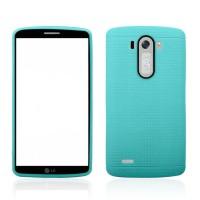 Чехол с точечной текстурой для LG Optimus G3 Голубой