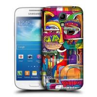 Пластиковый матовый дизайнерский чехол с принтом для Samsung Galaxy S4 Mini