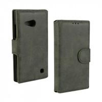 Винтажный чехол портмоне подставка с защелкой для Nokia Lumia 730/735 Зеленый