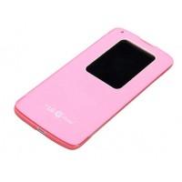Чехол с окном вызова для LG G Pro 2 Розовый