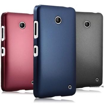 Пластиковый матовый металлик чехол для Nokia Lumia 630