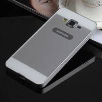 Двухкомпонентный чехол с металлическим бампером и поликарбонатной накладкой для Samsung Galaxy Grand Prime