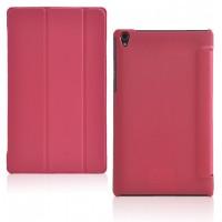 Чехол флип подставка сегментарный на поликарбонатной основе для Lenovo Tab S8 Красный