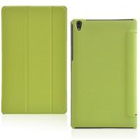 Чехол флип подставка сегментарный на поликарбонатной основе для Lenovo Tab S8 Зеленый