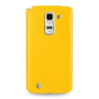 Чехол кожаная накладка BackCover для LG G Pro 2 Желтый