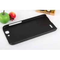 Пластиковый матовый металлик чехол для Huawei Ascend G7 Черный