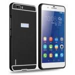 Двухкомпонентный чехол с металлическим бампером и поликарбонатной накладкой для Huawei Honor 6 Plus