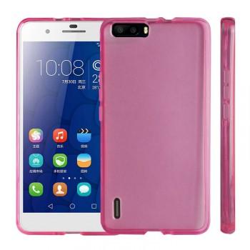 Силиконовый матовый полупрозрачный чехол для Huawei Honor 6 Plus