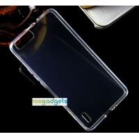 Силиконовый матовый полупрозрачный чехол для Huawei Honor 6 Plus Черный