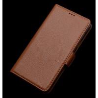 Кожаный чехол портмоне (нат. кожа) для Lenovo P70 Бежевый