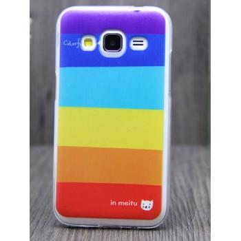 Силиконовый матовый дизайнерский чехол с принтом для Samsung Galaxy Core Prime