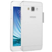 Двухкомпонентный чехол с металлическим бампером и поликарбонатной накладкой для Samsung Galaxy A7 Белый