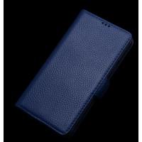 Кожаный портмоне (нат. кожа) для Samsung Galaxy E7 Синий