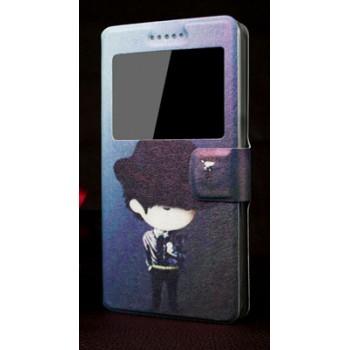 Принтованный дизайнерский флип подставка для Sony Xperia E3