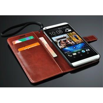 Чехол портмоне с отверстием под ремешок для HTC Desire 816