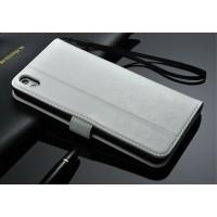 Чехол портмоне с отверстием под ремешок для HTC Desire 816 Белый