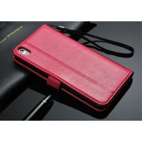 Чехол портмоне с отверстием под ремешок для HTC Desire 816 Красный